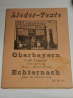 Lider-Texte, Oberbayern Café-Concert Echternach. Bière De Diekirch - Non Classificati
