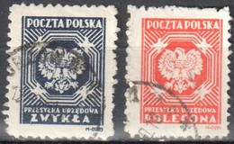 Poland 1946 - Official Stamps - Mi.23-24A - Used - Oficiales