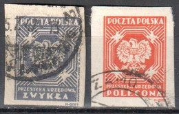 Poland 1946 - Official Stamps - Mi.23-24B - Used - Oficiales