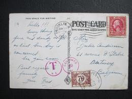 Tx 41 - Op PK Uit USA -  Getaxeerd Antwerpen 7/07/1933 - Brieven