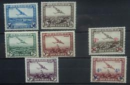 BELGIE   Luchtpost  1930-35    PA 1 - 4 / PA 5 / PA 6 - 7     Scharnier *  CW 49,50 - Luchtpost
