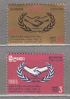 CEYLON 1965 International Co-operation Year MNH(**) Mi 336-337 #24092 - Sri Lanka (Ceylon) (1948-...)