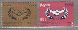 CEYLON 1965 International Co-operation Year MNH(**) Mi 336-337 #24093 - Sri Lanka (Ceylon) (1948-...)