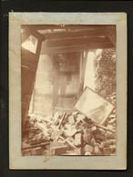 Lot 2 Vrai Photos SEPIA Guerre Decombres CALAIS. Set Of 2 REAL PHOTOS War Rubbles WWI  FRANCE - Old (before 1900)