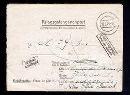 Kriegsgefangenenpost: Stammlager II B, Hammerstein 18 2 44 => Mons Griffes: Inconnu & Retour à Envoyeur: Office Allemand - Covers