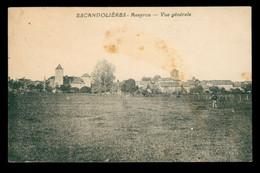 CPA ESCANDOLIERES - Aveyron - Vue Générale - Ecrite - RARE - Otros Municipios