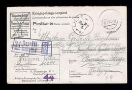 Kriegsgefangenenpost: Stalag VI J  Krefeld-Fichtenhain 11 2 43 => Liège Et Battice Voir Griffe De Censure - Lettere