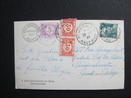 Tx 47 & 35 (x2) - Op PK Uit Frankrijk (Alsace) - Getaxeerd Gent 24/07/1947 - Brieven