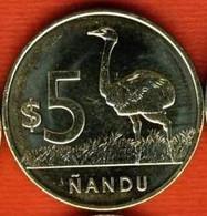 Uruguay 5 Pesos 2011, Rhea (Rhea Americana) - Ñandu, KM#137, Unc - Uruguay