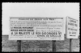 Carte Photo GRAYE-sur-Mer - Juno Beach - Circuit Des Plages De Débarquement - Non Circulée - Otros Municipios