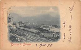 CHIASSO TICINO SWITZERLAND~GARE-RAILROAD STATION-ELEVATED VIEW ~1899 PHOTO POSTCARD 52416 - TI Ticino