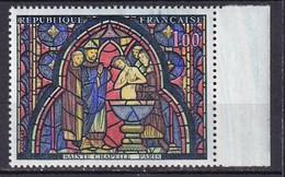 FRANCE - Vitrail De La Sainte-Chapelle Avec Bavures Bleues En Haur Neuf TTB - Varietà: 1960-69 Nuovi