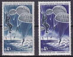 FRANCE - Parachutisme Bleu Foncé Et Bleu Verdâtre Neuf TTB - Varietà: 1960-69 Nuovi