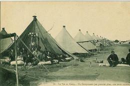 88. - La Vie Au Camp - Un Campement (au Premier Plan, Une Tente Ouverte) - Guerre 14-18 - Kazerne