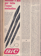 (pagine-pages)PUBBLICITA' BIC  Epoca1953/159r. - Altri