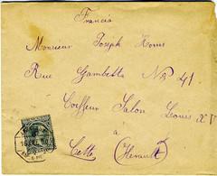 España 1900 Carta  Con 25c Pelon  AMBULANTE BARNA  PICAMOIXONS Hasta Francia EL789 - Cartas