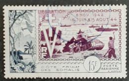 COTE FRANCAISE DES SOMALIS   Poste Aérienne - 10ème Anniversaire De La Libération   N° Y&T  PA24 (o) - Nuevos