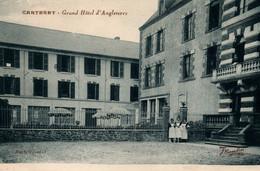 Carteret (Manche) Grand Hôtel D'Angleterre Et Le Personnel - Photo Combier, Edition Lesain - Hoteles & Restaurantes