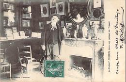 Semeuse 5c. Vert YT 137 Type I Imprimé Sur Raccord Sur CP Poète Frédéric Mistral Dans Son Cabinet De Travail 1911 - Curiosa: 1900-20 Brieven & Documenten