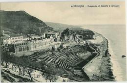 Ventimiglia Italia - Panorama Di Levante E Spiaggia - Vintimille Italie - Panorama De L'est Et De La Plage - Imperia