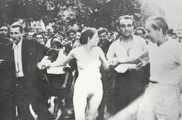 Libération-Epuration 1944, Photographie Femmes Tondues, Lot De 4 Cartes (tirages à 500 Exemplaires) Paris Et Marseille - Guerra 1939-45
