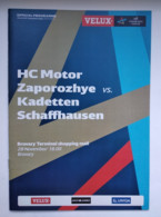 Handball Champions League Program 2015-16 HС Motor Ukraine -  Kadetten Schaffhausen Switzerland - Balonmano