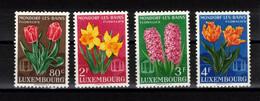 LUXEMBOURG  Timbres Neufs **  De 1955  ( Ref  4271 )   Fleurs - Floralies De Mondorf Les Bains + Dudelange - Nuevos