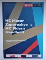 Handball Champions League Program 2015-16 HС Motor Ukraine -  HC Skjern Handbold  Denmark - Balonmano