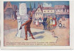 LA POTASSE D'ALSACE Les Cultivateurs Reconnaissants élèvent Une Statue à La Potasse - Publicité
