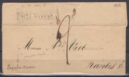 Réunion ? : Pli De St Denis 1828 En Port Du à 2 Décimes Avec PAYS D'OUTREMER/NANTES  Encadré - Maritime Post