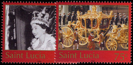 St Lucia 2003 Coronation Anniversary Unmounted Mint. - St.Lucie (1979-...)