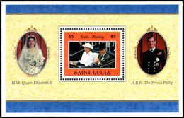 St Lucia 1997 Golden Wedding Souvenir Sheet Unmounted Mint. - St.Lucie (1979-...)
