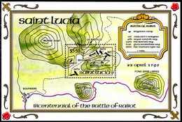 St Lucia 1995 Battle Of Rabot Souvenir Sheet Unmounted Mint. - St.Lucie (1979-...)