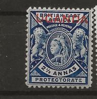 Uganda, 1902, SG  93, Surcharged, Mint Hinged - Uganda (1962-...)