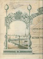 ECLAIRAGE ELECTRIQUE ST PETERSBOURG -ACTION PRIVILEGIEE DE 250 FRS - ANNEE 1897 - Elettricità & Gas