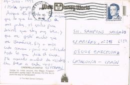 39951. Postal GAINESVILLE (Florida) 1992. Cinderella Castle, Fantasyland. DISNEY - Covers & Documents