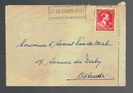 Lac  Gevangenis Te Brugge  30 10 45 => Oostende ( 2 Scans ) - Lettere