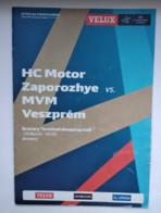 Handball Champions League Program 2015-16 РС Motor Ukraine -  MVM Veszprem  Hungary - Balonmano