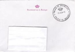 Enveloppe Secretariaat Van De Koningin Palais De Bruxelles Paleis Te Brussel - Storia Postale