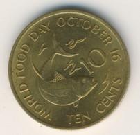 SEYCHELLES 1981: 10 Cents, KM 44 - Seychelles