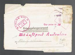 "Kriegsgefangenenpost: Stalag XIII C  10 5 42"" Mit Luftpost Australien "" & ""Taxe Perçue 40Pf ""  => Australie 2 Censures - Seconda Guerra Mondiale"