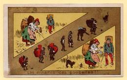 Chromo Chocolat C.Bériot à Lille Et Belle Jardinière. Les Ennemis De La Poubelle...! - Other