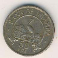 UGANDA 1976: 50 Cents, KM 4a - Uganda