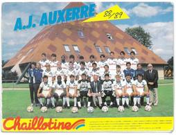 Dépliant AJ AUXERRE - Equipe De Football 1988 / 1989 - ( Foot - Chaillotine - Guy Roux ) - Auxerre