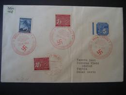 Böhmen Und Mähren Portomarken 1941- Führers Geburtstag Gelaufen Mit MiNr. 201,Porto 1 Und 2, 43 Von Brno Nach Vsetin - Covers & Documents