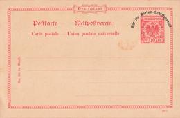 Deutsches Reich Kolonien Postkarte Carte Entier Postal Allemagne Ganzsache Nur Fur Marine Schiffsposter - Non Classés