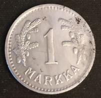 FINLANDE - FINLAND - 1 MARKKA 1943 - Fer - Iron - KM 30b - Finland