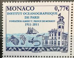 MONACO 2011 MNH STAMP ON INSTITUT OCEANOGRAPHIQUE DE PARIS F.V.0.77€ - Unused Stamps