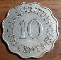 Mauritius 10 Cents 1971, KM#33, VF - Mauritius