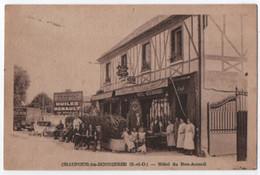 CHAUFOUR LES BONNIERES : RESTAURANT - HOTEL DU BON ACCUEIL - CAMION DE LIVRAISON FELIX POTIN - PUB RENAULT - ECRITE 1953 - Restaurants